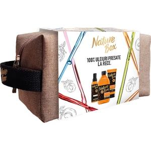 Set cadou NATURE BOX Apricot: Gel de dus, 385ml + Exfoliant pentru corp, 200ml + Ulei de corp, 150ml PAKHBOF0270