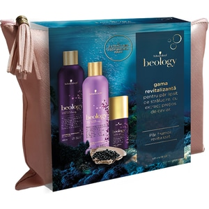 Set cadou SCHWARZKOPF Beology Renew: Sampon, 400ml + Balsam de par, 400ml + Tratament pentru par, 75ml PAKHBOF0290