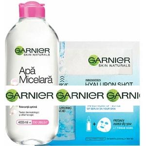 Set cadou GARNIER Skin Naturals: Apa micelara Sensitive, 400ml + Masca de fata Fresh-Mix cu Acid Hialuronic, 33g PAKXRO00290