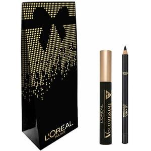 Set cadou L'OREAL PARIS: Mascara Volumissime, Extra Black, 7.5ml + Creion de ochi Superliner Le Khol, 101 Midnight Black, 1.2g PAKZRO00434