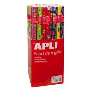 Hartie de impachetat APLI, 70 cm x 2 m, hartie, multicolor, 55 bucati/set PBHAL014002