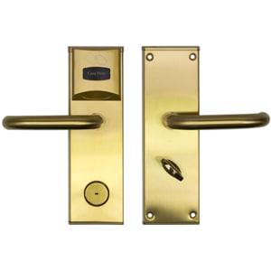 Yala control acces hotelier PNI CH2000L, cu cititor de card, deschidere stanga, auriu INSPNICH2000LG