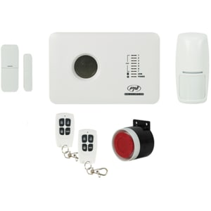 Kit sistem de alarma wireless PNI SafeHouse PG300, comunicator GSM 2G, alb ALRPNISHPG300