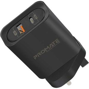 Incarcator retea PROMATE PowerPort-36, 1xType C, 1xUSB, 36W, negru AISPOWERPORT36B