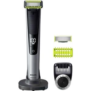 Aparat hibrid de barbierit si tuns barba PHILIPS OneBlade Pro Face & Body QP6620/20, acumulator, autonomie 90 min, Afisaj digital, negru-argintiu TNSQP662020