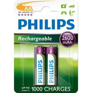 Acumulatori PHILIPS R6B2A260/10, AA, 2600 mAh, 2 baterii ACMR6B2A26010