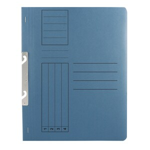 Dosar incopciat BASIC, 1/1, A4, carton, 10 bucati, albastru PBORQ010632