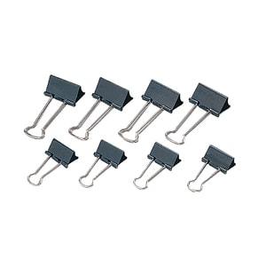Clipsuri metalice pentru hartie VOLUM, 40 mm 12 buc/cutie, negru PBBRQ017414
