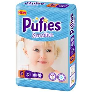 Scutece PUFIES Sensitive Maxi Extra Large nr 6, Unisex, +13 kg, 42 buc SCB18539
