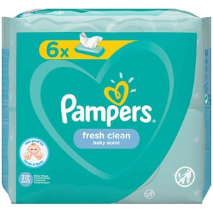 Servetele umede PAMPERS Fresh Clean, 6 pachete, 312buc SCB81272519