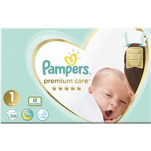 Scutece PAMPERS Premium Care Jumbo Pack nr 1, Unisex, 2-5 kg, 108 buc SCB81534446