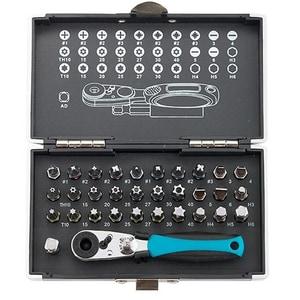 "Set Biti GROSS, 1/4"", adaptor magnetic, cutie din plastic, 33 piese SCL11365"