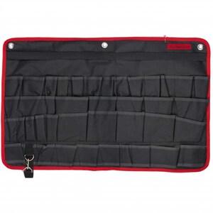 Organizator pentru scule MTX, pentru perete, 38 buzunare, 67.5 x 45 cm, negru-rosu SCL902459