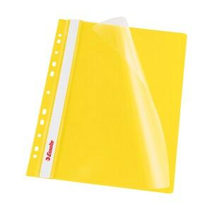 Dosar cu sina ESSELTE, A4, plastic, 10 bucati , galben PBOSL000132