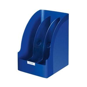 Suport documente LEITZ Plus, plastic, 3 compartimente, albastru PBBSL008321