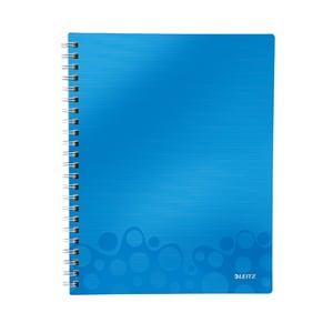 Caiet de birou LEITZ, dictando, A5, 80 file, legatura spirala, albastru PBSSL020702