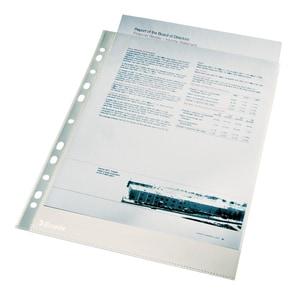 File de protectie documente ESSELTE, A4, cristal, 40 microni, 100 bucati PBOSL080933