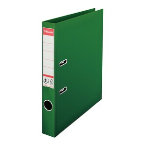 Biblioraft plastifiat ESSELTE Standard, A4, 50 mm, verde PBOSL1206