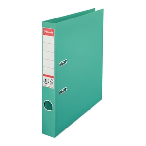 Biblioraft plastifiat ESSELTE Standard, A4, 50 mm, turcoaz PBOSL1211