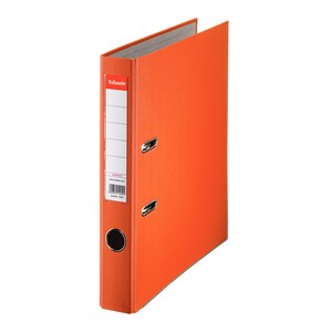 Biblioraft plastifiat/cartonat ESSELTE Economy, A4, 50 mm, portocaliu PBOSL1302