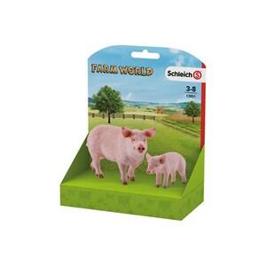 Set figurine SCHLEICH Porc si pucelus SL13851L, 3 ani+, roz JINSL13851L