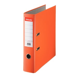 Biblioraft plastifiat/cartonat ESSELTE Economy, A4, 75 mm, portocaliu PBOSL1402