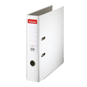 Biblioraft plastifiat/cartonat ESSELTE Economy, A4, 75 mm, alb PBOSL1403