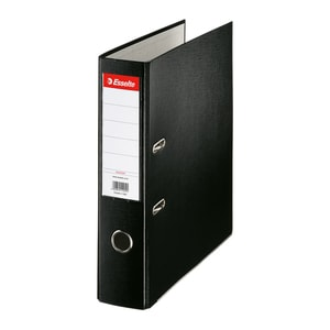 Biblioraft plastifiat/cartonat ESSELTE Economy, A4, 75 mm, negru PBOSL1407
