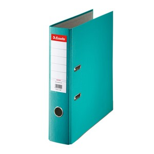 Biblioraft plastifiat/cartonat ESSELTE Economy, A4, 75 mm, turcoaz PBOSL1411
