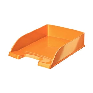 Tavita documente LEITZ WOW, plastic, portocaliu metalizat PBOSL980094