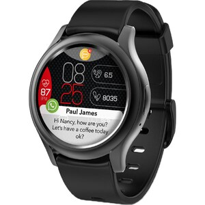 Smartwatch MYKRONOZ ZeRound3, Android/iOS, silicon, negru SMWKRO0012