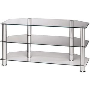 Stand TV HAMA 11723, 48-107, 40Kg, sticla/aluminiu, fix, argintiu STV11723