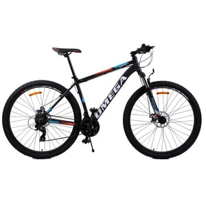 "Bicicleta Mountain Bike Omega Thomas 2018, 29"", 49cm, negru-portocaliu-alb BCL49THMAS29NPA"