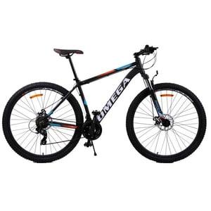 "Bicicleta Mountain Bike Omega Thomas 2018, 29"", 46cm, negru-portocaliu-alb BCL46THMAS29NPA"