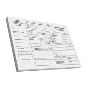 Foaie de parcurs transport persoane VOLUM, A4, 100 file x 3 carnete PBHTI14227