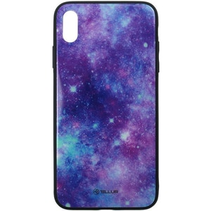 Carcasa pentru Apple iPhone Xs, TELLUR Glass print Universe, TLL121305, multicolor AHSTLL121305