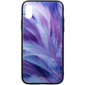 Carcasa pentru Apple iPhone Xs Max, TELLUR Glass print Universe, TLL121355, multicolor AHSTLL121355