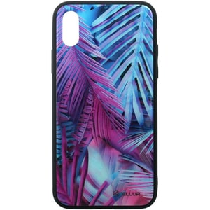 Carcasa pentru Apple iPhone Xs Max, TELLUR Glass print Palm, TLL121375, multicolor AHSTLL121375