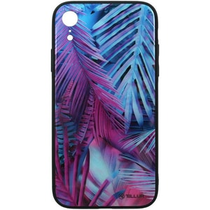 Carcasa pentru Apple iPhone Xr, TELLUR Glass print palm, TLL121425, multicolor AHSTLL121425