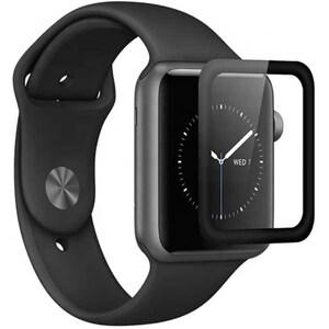 Folie Tempered Glass pentru Apple Watch Series 4 40mm, TELLUR Full Glue, TLL145153, 3D, negru AFSTLL145153