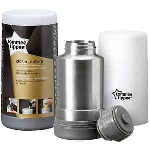 Incalzitor electric si termos calatorii TOMMEE TIPPEE, 500ml, alb - inox TMS42300041