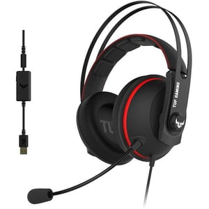 Casti Gaming ASUS TUF Gaming H7, 7.1 surroud, multiplatforma, USB, 3.5mm, negru-rosu CAS90YH01VRB8UA