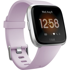 Smartwatch FITBIT Versa Lite FB415SRLV, Android/iOS, silicon, Lilac-Silver SMWVERSALITELS