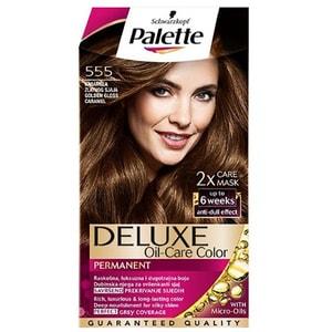 Vopsea de par PALETTE Deluxe, 555 Golden Gloss Caramel, 130ml VOPHBPA0142