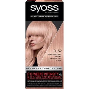 Vopsea de par SYOSS Color Baseline, 9-52 Blond Auriu Rose Deschis, 115ml VOPHBSY0216