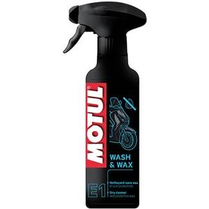 Solutie de curatare si ceara de protectie MOTUL Wash&Wax E1, 400ml AUTWASHWAXE1