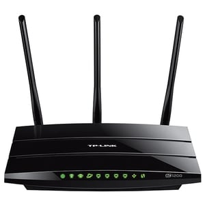 Router Wireless Gigabit TP-LINK Archer C1200, Dual-Band 300 + 867 Mbps, USB 2.0, negru ROUARCHERC1200