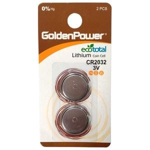 Baterii litiu GOLDEN POWER CR-2032, 2 bucati BATGPWCR2032