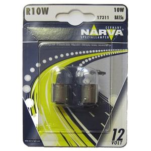 Bec auto halogen NARVA 173114000, R10W, 12V, 10W, BA15S, set 2 bucati AUT173114000