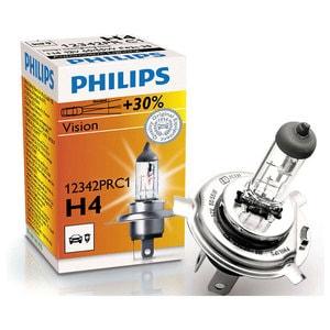 Bec far PHILIPS Vision 12342PRC1, +30%, H4, 12V, 55W AUT12342PRC1